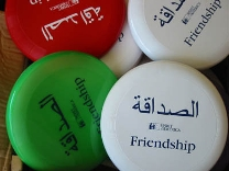 Frisbees with Friendship engraved